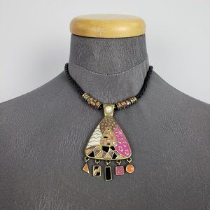 Jewelry - Pink & Gold Statement Necklace